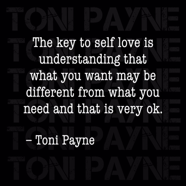 Toni Payne Quote about having self love
