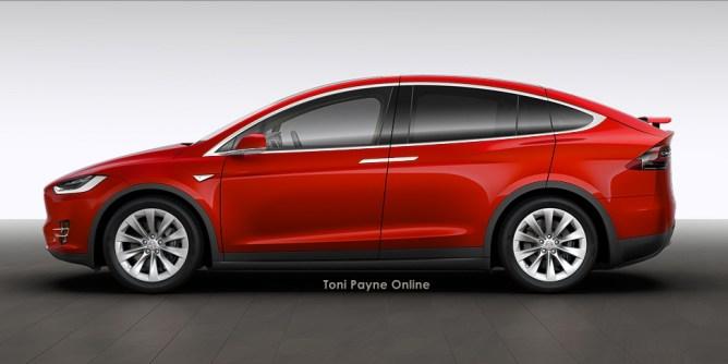 Tesla Model X 60D red