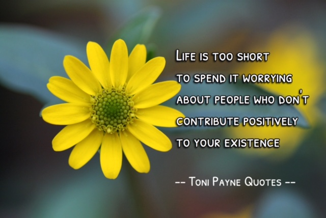 Quote about dealing with negative people - Toni Payne