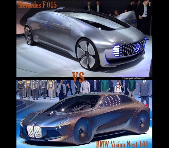 BMW Vision Next 100 vs Mercedes F015  Concept Car