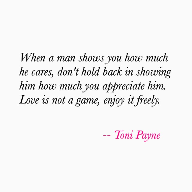Love Quote about Appreciating Your Man