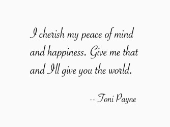 Quote about Happiness and Peace of Mind