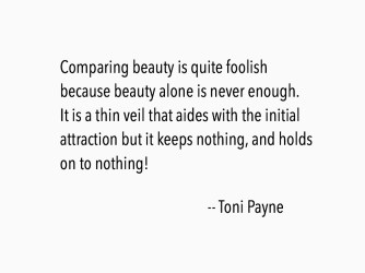 Quote about comparing beauty