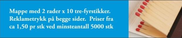 fyrstikkmappe tonjer fyr TF9673 med logo