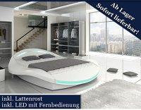 XXXL Designer Bett Designerbett LED Beleuchtung (Wei ...