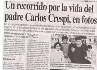 Padre Carlos Crespi Jornal - To no Cosmos