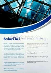 Catalog Trang 2 - SOLARFLAT, Tấm Polycarbonate Đặc Ruột Indonesia
