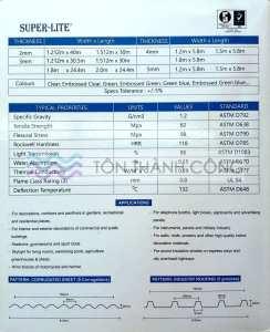 Catalog - Trang 2 - SUPERLITE, Tấm Polycarbonate Đặc Ruột Malaysia