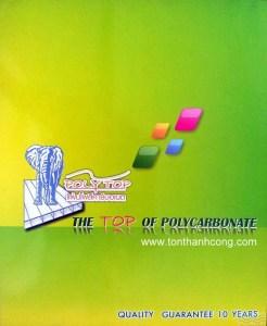 Catalog Trang 1 – POLYTOP, Tấm Polycarbonate Rỗng Ruột Thái Lan