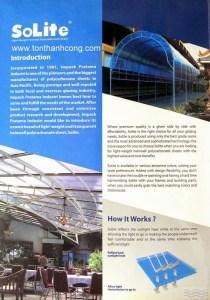 Catalog Trang 2 – SOLITE, Tấm Polycarbonate Rỗng Ruột Indonesia