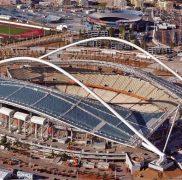 Sân vận động Olympic Athens dùng tấm polycarbonate làm mái