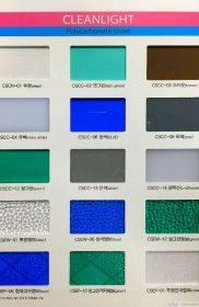 Bảng màu CleanLight – Tấm lợp lấy sáng polycarbonate đặc ruột