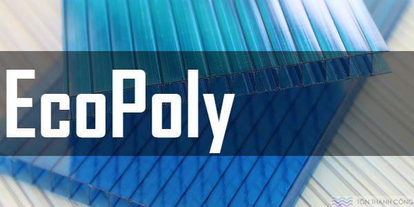 Tấm Polycarbonate EcoPoly - Tấm lợp lấy sáng rỗng ruột