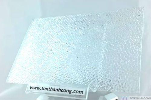 SolarFlat - màu Embossed Clear (Trong Kính Sần, Cát) - Tấm Polycarbonate Đặc Ruột Lấy Sáng