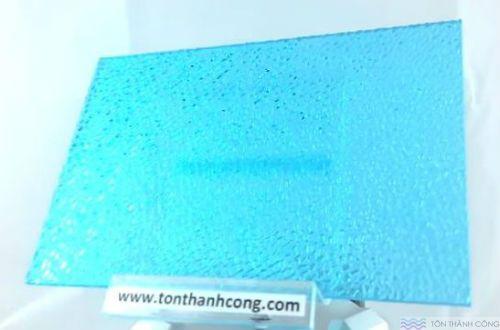 SolarFlat - màu Embossed Tosca (Xanh Biển Sần, Cát) - Tấm Polycarbonate Đặc Ruột Lấy Sáng