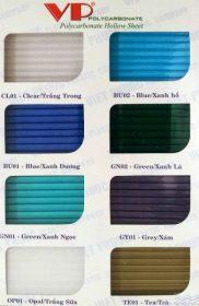Màu Sắc VIP – Tấm lợp lấy sáng polycarbonate