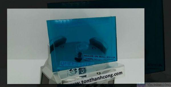 Queen-Lite Green Blue (Xanh Biển) Malaysia - Tấm Polycarbonate Đặc Ruột Dày 3mm HCM