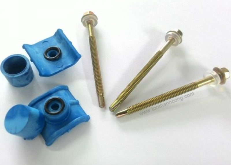 Bộ vít bắn sắt - nắp chụp PVC, đế PVC, ron cao su