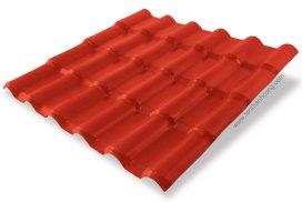 Ngói Nhựa PVC ASA Đỏ Đô Red