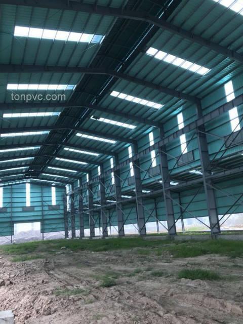 Tôn PVC dùng làm tôn lợp mái và vách ngăn cho Nhà Xưởng Sản Xuất Giấy Hưng Hà
