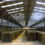 Kho hàng Nhà máy gạch ngói Hợp Nhật Thành - Đồng Nai, lợp Tôn Nhựa ASA/PVC màu Xanh Ngọc