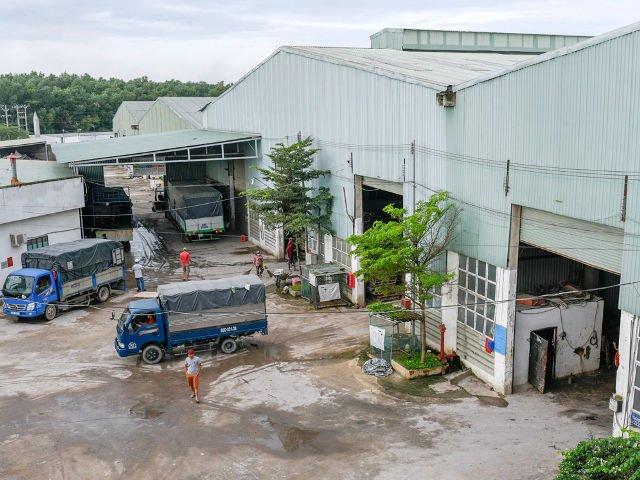 Hình 12 : công trình nhà máy phân bón Phát Thiên Phú - Đồng Nai, Tôn Nhựa ASA/PVC màu Xanh Ngọc