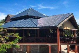 Hình 02 : cải tạo bằng Ngói Nhựa ASA/PVC màu Xám Đen, Little Mui Ne Cottages Resort