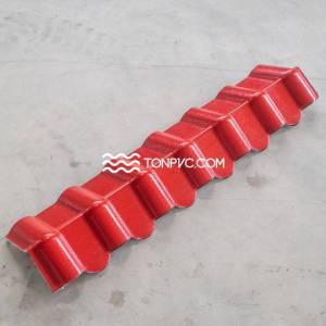 Tấm Diềm Hiên Ngói Nhựa Màu Đỏ
