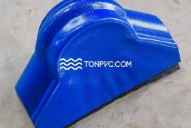 Tấm Úp Góc Nóc Ngói Nhựa Màu Xanh Dương