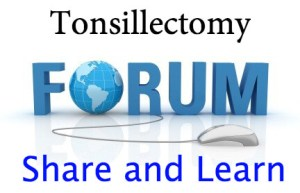 Tonsillectomy Forum image