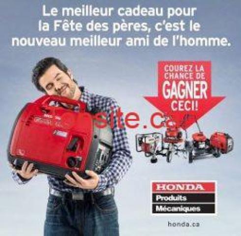 honda papa - gagnez 5 Produits Mécaniques Honda pour le garage de votre papa!