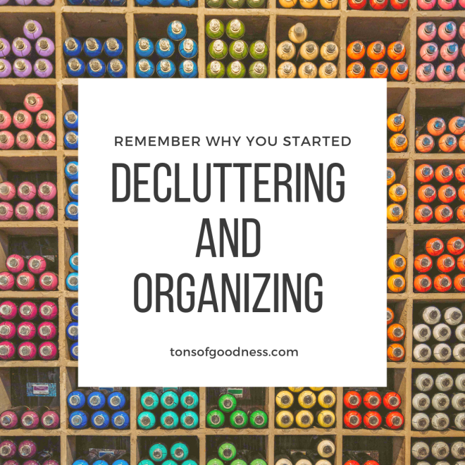 declutter and organize