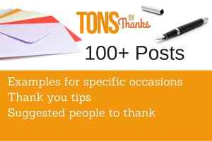 Tons of Thanks Contents 100