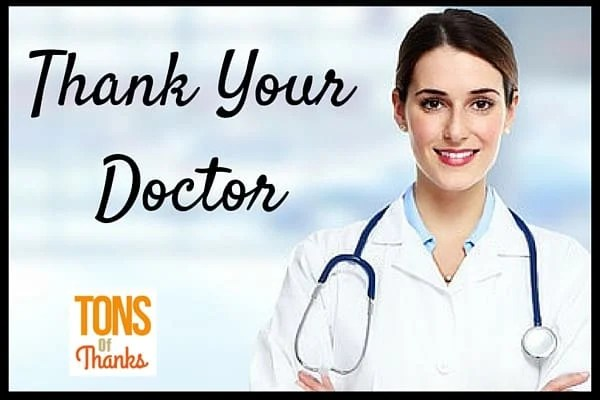 Thank you note to doctor examples spiritdancerdesigns Gallery