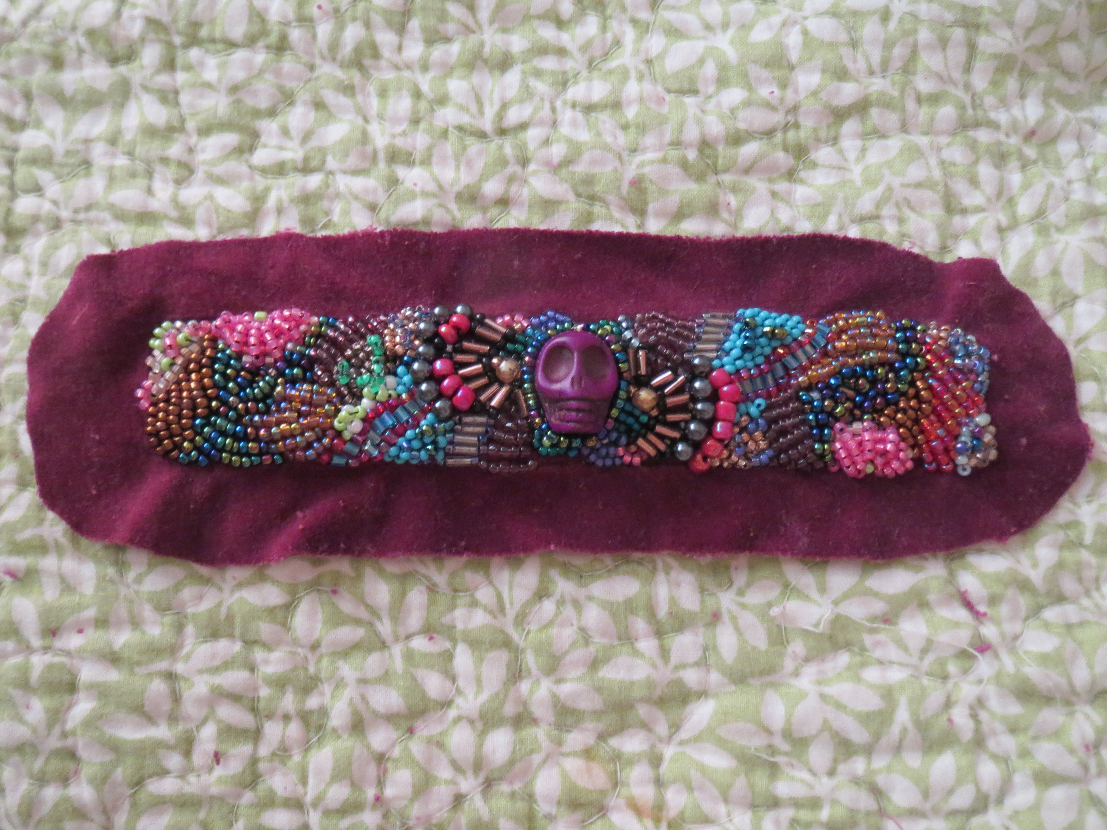 Bead Embroidered Bracelet Tons Of Treasures Collectibles