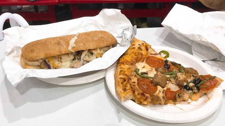 チャバタとピザ