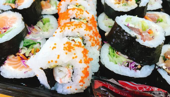 寿司サラダ巻き(断面)