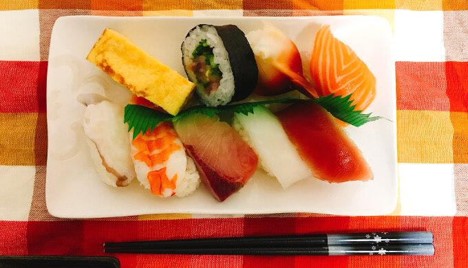 寿司ファミリー盛り48貫(盛付)