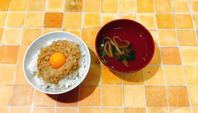 永谷園松茸の味お吸い物(納豆ご飯とお吸い物)