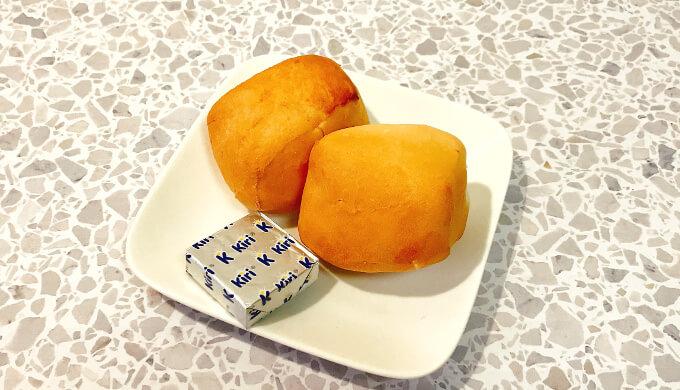 kiriクリームチーズ(ディナーロールと)