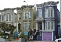 San Francisco Victorian Row Houses