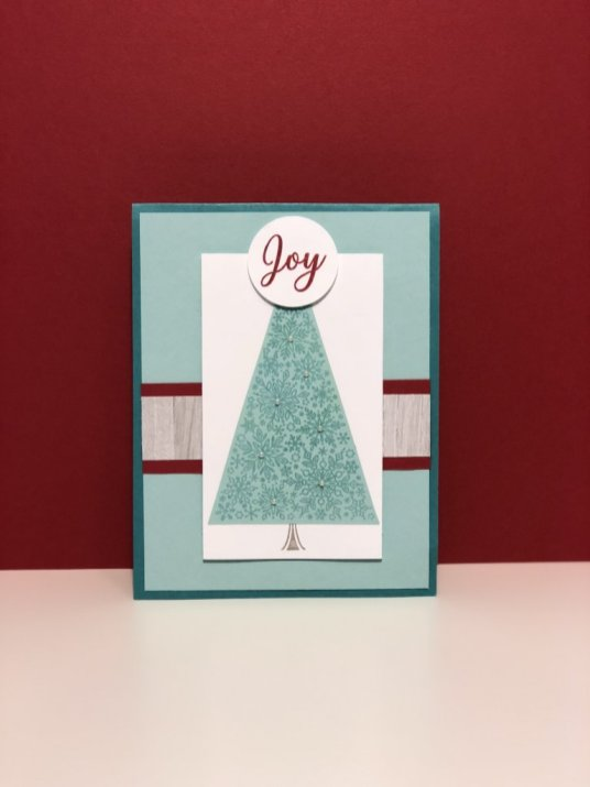 This card has a plain background and uses the Gray Granite woodgrain DSP from the Festive Farmhouse pack.