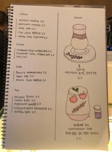 연남동 포포크(forfork) 메뉴