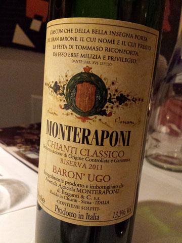 Monteraponi Chianti Classico Riserva Baron' Ugo 2011