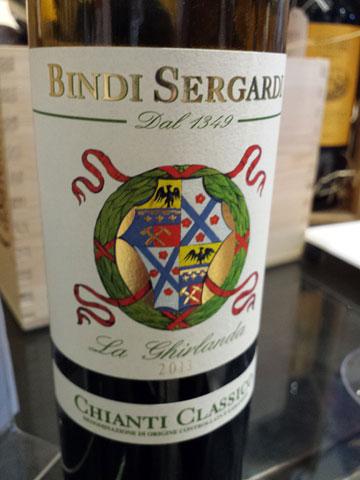 Bindi Sergardi Chianti Classico La Ghirlanda 2013