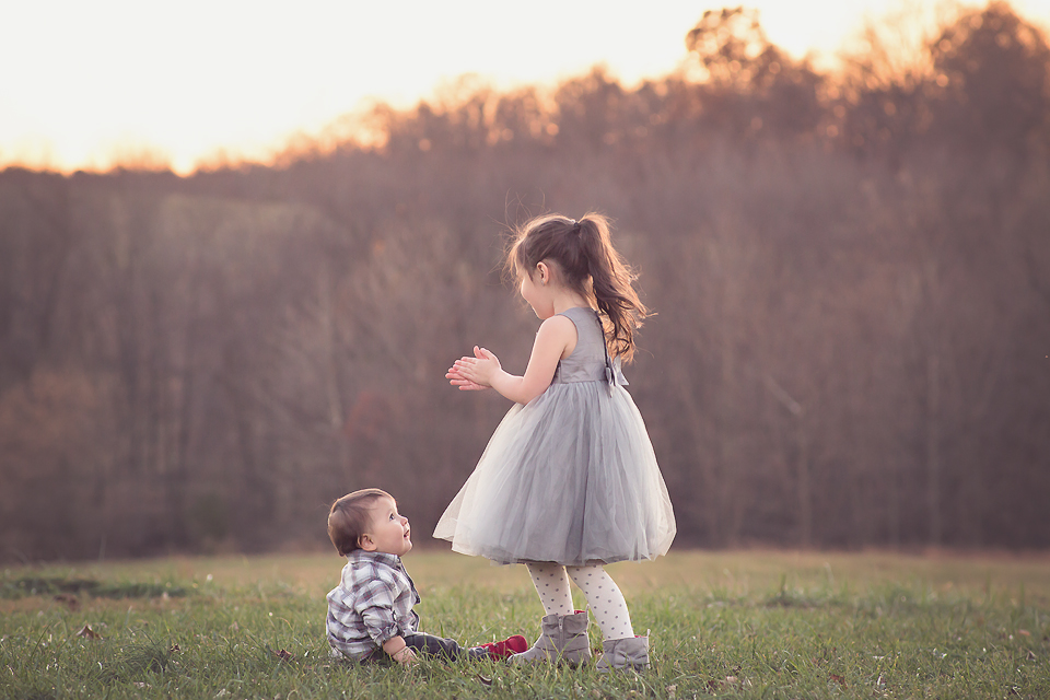 baby and big sister   Tonya Teran Photography, Rockvile, MD Baby Photographer