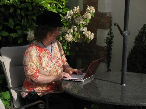 Writing al fresco