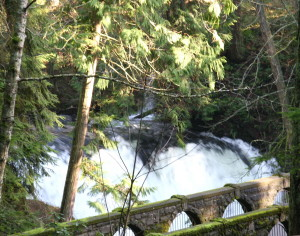 whatcom falls and bridge panoramic