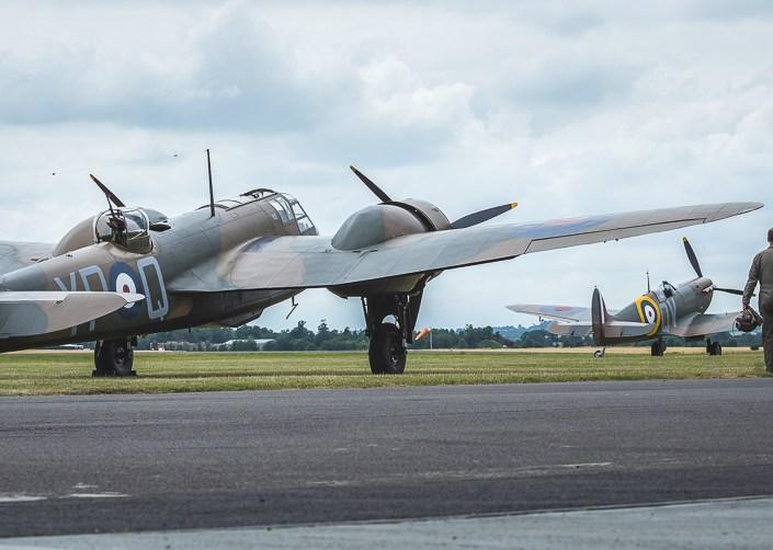 Bristol Blenheim and Spitfire