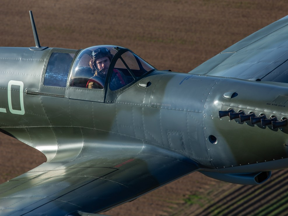 Close-up of Martin (Mo) Overall in the Mk26 Spitfire